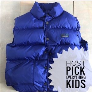 LL Bean puffer vest jacket sz xs 6 royal blue